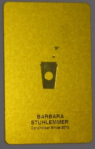 Starbucks Personalized Card